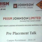 Prism Cement Ltd conducted Campus Recruitment Drive at BBD Educational Group