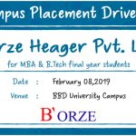 Campus Placement Drive of Aegon for B.Tech Students on 4th Feb 2019