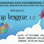 """Start-Up League 1.0"" was organized by Incubation, Innovation and Start-up Cell(IISC) on 14th October, 2019."