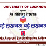"An Initiative Program ""Padhe Lucknow Badhe Lucknow"" was organized in association with University of Lucknow on Nov 01, 2019."
