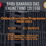 BBDEC ONLINE ORIENTATION PROGRAMME FOR THE ACADEMIC SESSION 2020-21 ON AUGUST 13, 2020.