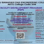 """BBDEC: Faculty Development Program on """"Artificial Intelligence and Machine Learning Techniques"""""""